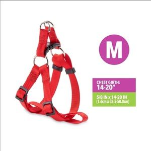 [Vibrant Life] NWT red step in dog harness medium